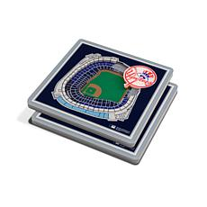 Officially Licensed MLB 3D StadiumViews Coasters - New York Yankees