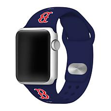Officially Licensed MLB 42/44mm Apple Watch Band - Boston Red Sox