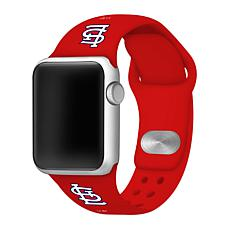 Officially Licensed MLB 42/44mm Apple Watch Band - St. Louis Cardinals