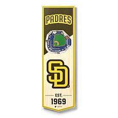 "Officially Licensed MLB 6"" x 19"" 3-D Stadium Banner - San Diego Padres"