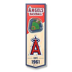 """Officially Licensed MLB 6"""" x 19"""" 3D Stadium Banner- Los Angeles Angels"""