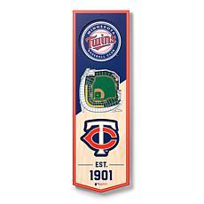 "Officially Licensed MLB 6"" x 19"" 3D Stadium Banner - Minnesota Twins"