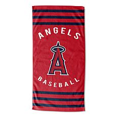 Officially Licensed MLB 620  Stripes Beach Towel - Angels