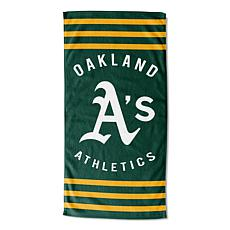 Officially Licensed MLB 620  Stripes Beach Towel - Athletics