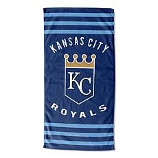 Officially Licensed MLB 620  Stripes Beach Towel - Royals