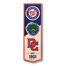 "Officially Licensed MLB 6x19"" 3D Stadium Banner - Washington Nation..."