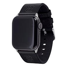 Officially Licensed MLB Apple Watch Black Leather Band 38/40mm- Boston