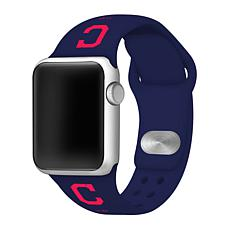 Officially Licensed MLB Apple Watchband 42/44mm - Cleveland Indians