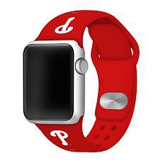 Officially Licensed MLB Apple Watchband 42/44mm- Philadelphia Phillies