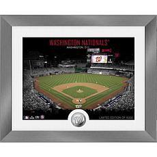 Officially Licensed MLB Art Deco Silver Coin Photo Mint - Washington