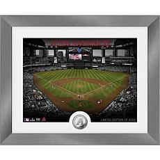 Officially Licensed MLB Art Deco Silver Coin Photo Mint - Arizona