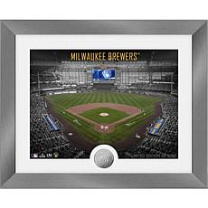 Officially Licensed MLB Art Deco Silver Coin Photo Mint - Milwaukee
