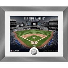 Officially Licensed MLB Art Deco Silver Coin Photo Mint - NY. Yankees