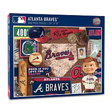 Officially Licensed MLB Atlanta Braves Retro 500-Piece Puzzle