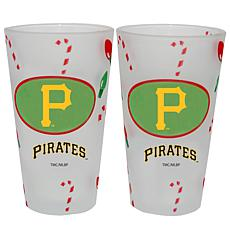 Officially Licensed MLB Christmas Day 16 oz. Pint Glass 2pk - Pirates