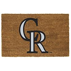 Officially Licensed MLB Colored Logo Door Mat - Rockies