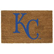 Officially Licensed MLB Colored Logo Door Mat - Royals