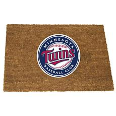Officially Licensed MLB Colored Logo Door Mat - Twins