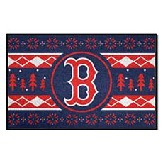 Officially Licensed MLB Holiday Sweater Mat - Boston Red Sox