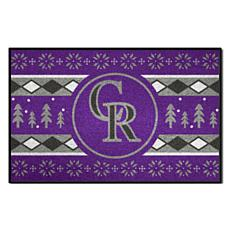 Officially Licensed MLB Holiday Sweater Mat - Colorado Rockies