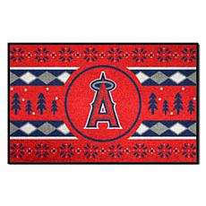 Officially Licensed MLB Holiday Sweater Mat - Los Angeles Angels