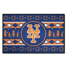 Officially Licensed MLB Holiday Sweater Mat - New York Mets