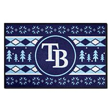 Officially Licensed MLB Holiday Sweater Mat - Tampa Bay Rays