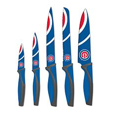Officially Licensed MLB Kitchen Knife Set - Chicago Cubs