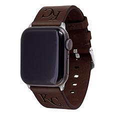 Officially Licensed MLB Leather Band for Apple Watch 42/44mm-Royals