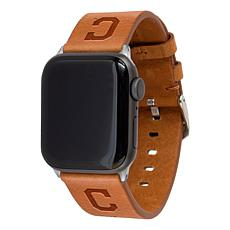 Officially Licensed MLB Leather Band for Apple Watch 42/44mm - Indians