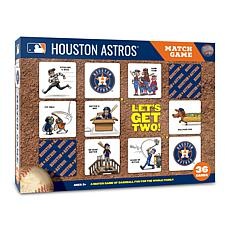 Officially Licensed MLB Licensed Memory Match Game - Houston Astros