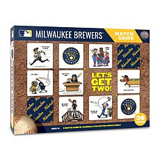 Officially Licensed MLB Licensed Memory Match Game - Milwaukee Brewers