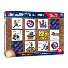 Officially Licensed MLB Licensed Memory Match Game - Washington