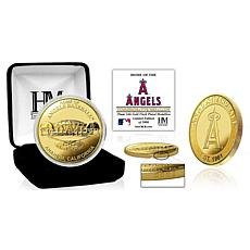 Officially Licensed MLB Los Angeles Angels Stadium Gold Mint Coin