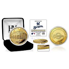 Officially Licensed MLB Milwaukee Brewers Stadium Gold Mint Coin