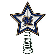 Officially Licensed MLB Mosaic Tree Topper - Brewers