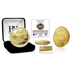 Officially Licensed MLB New York Mets Stadium Gold Mint Coin