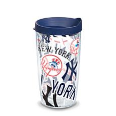 Officially Licensed MLB New York Yankees All Over 16 oz. Tumbler w/Lid