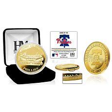 Officially Licensed MLB Philadelphia Phillies Stadium Gold Mint Coin