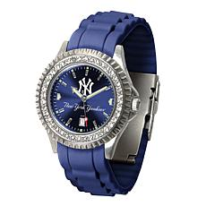 Officially Licensed MLB Pinstripe Sparkle Watch - New York Yankees