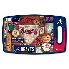 Officially Licensed MLB Retro Series Cutting Board - Atlanta Braves