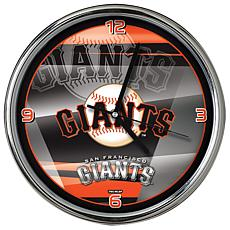 Officially Licensed MLB Shadow Chrome Clock - Giants