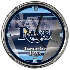 Officially Licensed MLB Shadow Chrome Clock - Rays