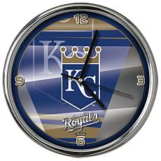 Officially Licensed MLB Shadow Chrome Clock - Royals