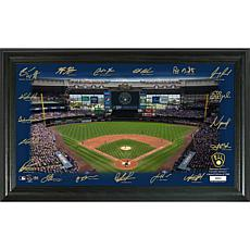 Officially Licensed MLB Signature Field Limited Edition Frame- Brew...