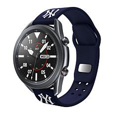 Officially Licensed MLB Silicone Sports Band for Samsung Watch-Yankees
