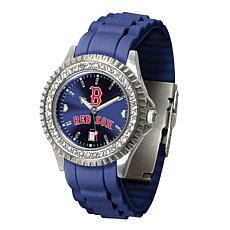 Officially Licensed MLB Sparkle Women's Watch - Boston Red Sox B Logo