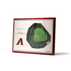 Officially Licensed MLB StadiumView 3D Wall Art - Arizona Diamondbacks