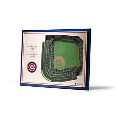 Officially Licensed MLB StadiumView 3D Wall Art - Chicago Cubs