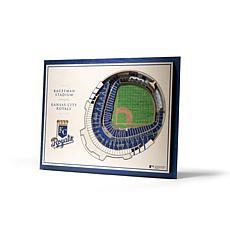 Officially Licensed MLB StadiumViews 3D Wall Art - Kansas City Royals
